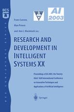 Research and Development in Intelligent Systems XX