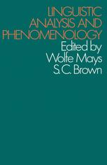 Linguistic Analysis and Phenomenology