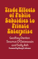 Trade Effects of Public Subsidies to Private Enterprise
