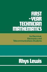 First-Year Technician Mathematics