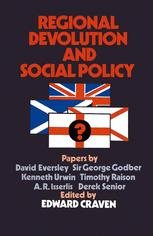 Regional Devolution and Social Policy