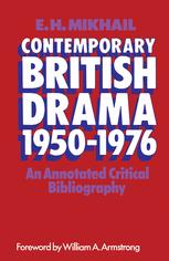 Contemporary British Drama 1950–1976