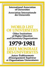World List of Universities 1979–81
