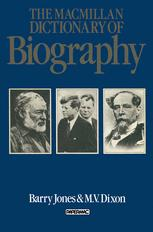 The Macmillan Dictionary of Biography