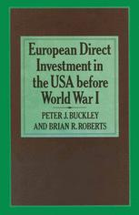 European Direct Investment in the U.S.A. before World War I