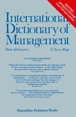 International Dictionary of Management