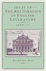 Ideas of the Restoration in English Literature, 1660–71