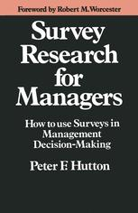 Survey Research for Managers