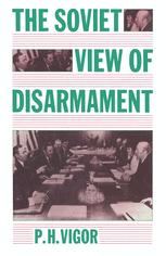 The Soviet View of Disarmament
