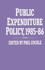 Public Expenditure Policy, 1985–86