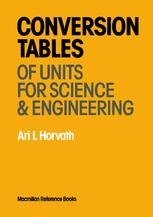 Conversion Tables of Units in Science & Engineering