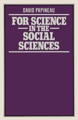 For Science in the Social Sciences