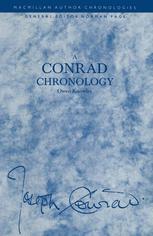 A Conrad Chronology