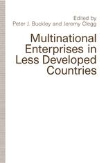 Multinational Enterprises in Less Developed Countries
