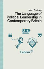 The Language of Political Leadership in Contemporary Britain