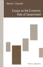 Essays on the Economic Role of Government