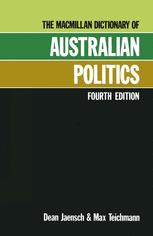 The Macmillan Dictionary of Australian Politics