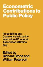 Econometric Contributions to Public Policy