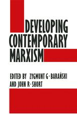 Developing Contemporary Marxism