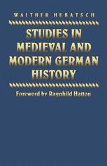 Studies in Medieval and Modern German History