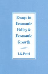 Essays in Economic Policy and Economic Growth