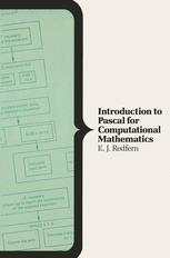 Introduction to Pascal for Computational Mathematics