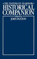 The Statesman's Year-Book Historical Companion