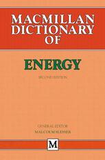 Macmillan Dictionary of Energy