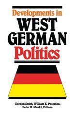 Developments in West German Politics