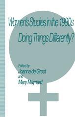 Women's Studies in the 1990s