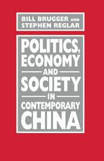 Politics, Economy and Society in Contemporary China