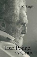 Ezra Pound as Critic