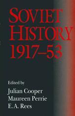 Soviet History, 1917–53