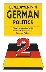 Developments in German Politics 2