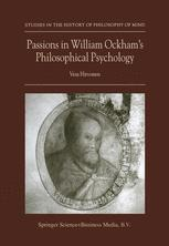 Passions in William Ockham's Philosophical Psychology