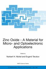 Zinc Oxide — A Material for Micro- and Optoelectronic Applications