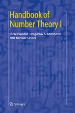 Handbook of Number Theory I