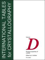 International Tables for Crystallography Volume D: Physical properties of crystals