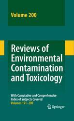 Reviews of Environmental Contamination and Toxicology Vol 200