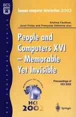 People and Computers XVI - Memorable Yet Invisible