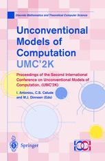 Unconventional Models of Computation, UMC'2K