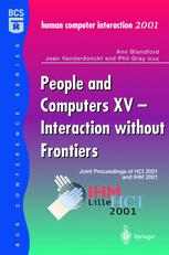 People and Computers XV—Interaction without Frontiers