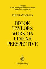 Brook Taylor's Work on Linear Perspective