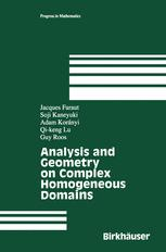 Analysis and Geometry on Complex Homogeneous Domains