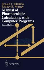 Manual of Pharmacologic Calculations