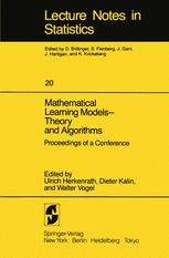 Mathematical Learning Models — Theory and Algorithms