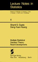 Multiple Statistical Decision Theory: Recent Developments