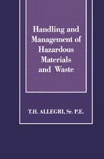 Handling and Management of Hazardous Materials and Waste