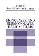 Monolayer and Submonolayer Helium Films