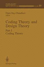 Coding Theory and Design Theory